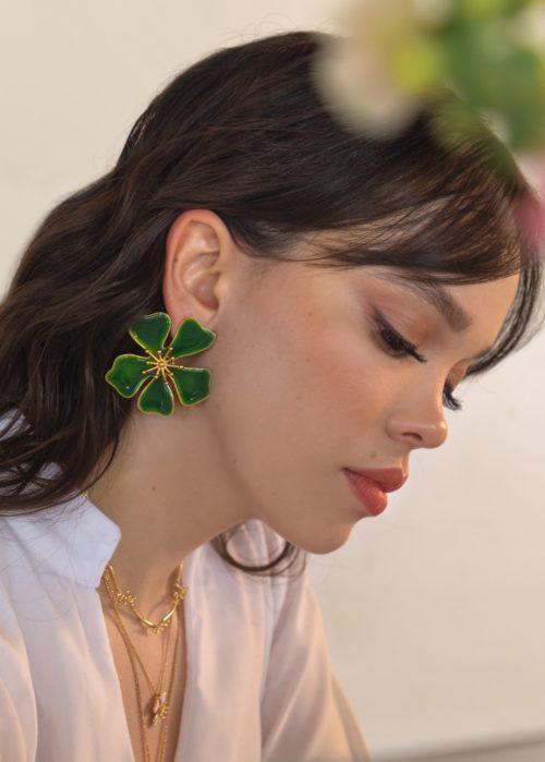 Aretes Aurora maxi Verde